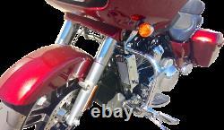 ULTRACOOL Chrome Frame Mount Side Mount Vertical Oil Cooler Kits SMT8-1C