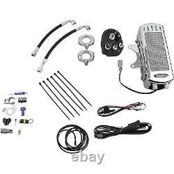 UltraCool SMD-1C Frame Mount Oil Cooler Kit, Chrome Harley-Davidson Wide Gli
