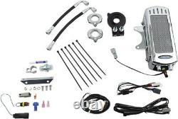 UltraCool SMS8-1C Frame Mount Oil Cooler Kit, Chrome Harley-Davidson Softail