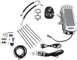 UltraCool SMS-1C Frame Mount Oil Cooler Kit, Chrome Harley-Davidson Softail