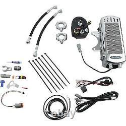 UltraCool SMT-1C Frame Mount Oil Cooler Kit, Chrome Harley-Davidson Electra