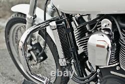 Vertical Frame Mount Oil Cooler Chrome Jagg 750-1100 For 84-19 Harley