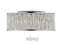 Z-Lite 7 Light Flush Mount, Chrome, Aluminum Shade, Chrome Frame 872CH-RF18